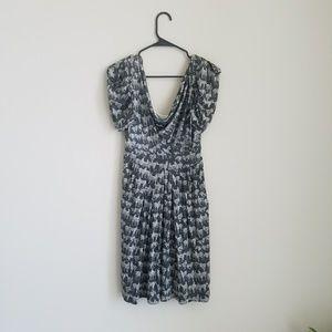 Eva Franco silk zebra dress